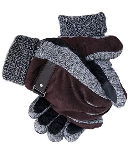 Dolce Margarita(ドルチェマルガリータ) スマホ対応 メンズ レザ-手袋 裏起毛 フリーサイズ glove-009-brn