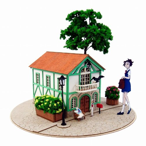 Sankei miniatuart, and Kit cat Studio Ghibli series cat's Office 1 / 150 scale papercraft MK07-11
