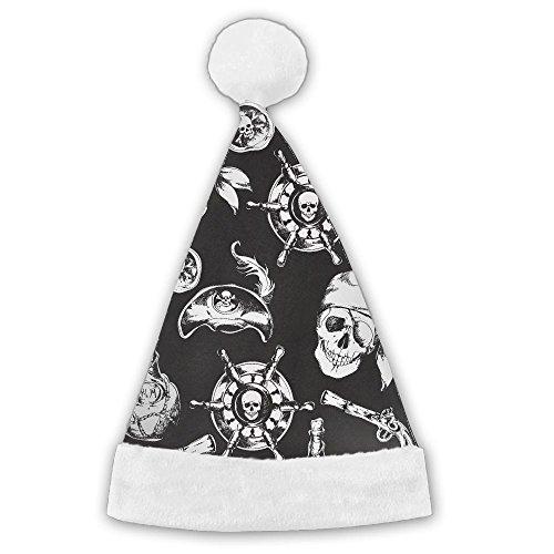 F-CRAFT 海賊版のパターン 黒い サンタ帽子 クリスマ...
