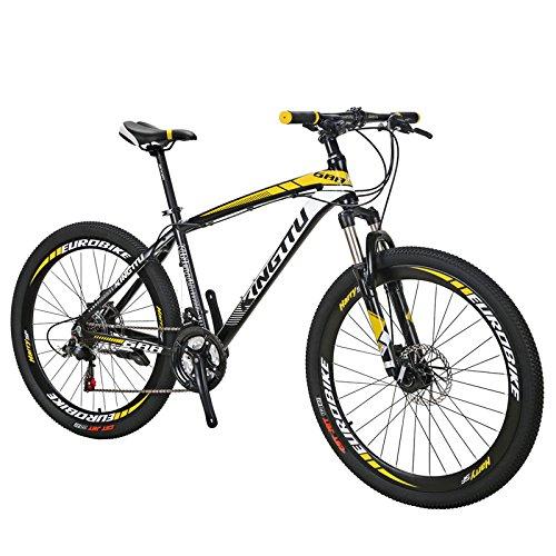 Extrbici 688 マウンテンバイク MTB 21段変速 アルミフレーム 26インチ軽量 アップグレード (黄)