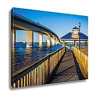 ashley giclee 釣りpier and bridge over the halifax川でデイトナ