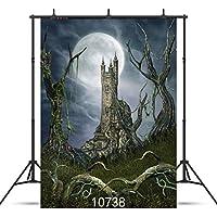 GooEoo怖い森ハロウィーンの夜背景5×7フィートビニール写真カスタマイズされた写真の背景スタジオプロップ10738