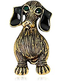 SKZKK Retro Dog Enamel Brooch Pins Handmade Craft Animal Brooch Pins for Clothing