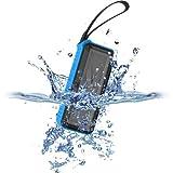 Trendwoo Bluetooth2.1+EDRワイヤレススピーカー+IPX5 防水+2000mAhリチウム電池+ハンズフリー通話可能+連続再生8時間 ハイキング、登山、ランニング、キャンプとBBQなどアウトドア運動/お風呂に最適! Rockman-L (ブルー)