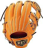 ゼット(ZETT) 軟式野球 グラブ プロステイタス セカンド・ショート用 今宮健太選手タイプ 右投げ用 オレンジ×ブラウン(5637) サイズ:4 サイズ:4 BRGB30060