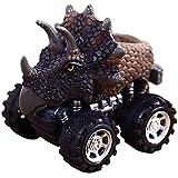 Inkach 恐竜モデル プルバック ミニカー 摩擦力 バギー 車 車内 車 子供用 教育 車 おもちゃ One Size マルチカラー IN-1