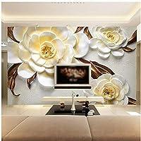 Xbwy 写真の壁紙カスタム3Dステレオレリーフ美しい花壁画リビングルームテレビソファ背景の壁の家の装飾-150X120Cm