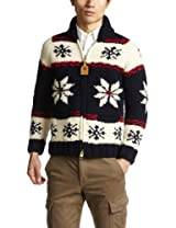 Canadian Sweater Company Snow Zip Cardigan 09CN04: Navy / Red