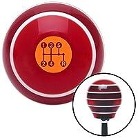 American Shifter 274281 Shift Knob (Orange 5 Speed Shift Pattern - Dots 15 Red Stripe with M16 x 1.5 Insert) [並行輸入品]