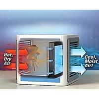 冷風機 Sennic 卓上冷風扇 風量3段階切り替え USB扇風機 冷却・加湿・空気清浄機能 7種類LEDライト付き ミニエアコンファン USB電源式 5V/2A 小型クーラー 省エネ 軽量 長時間連続動作 熱中症と暑さ対策 オフィス/寝室/車中泊/自宅 対応