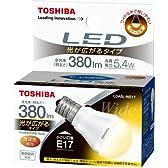 TOSHIBA E-CORE(イー・コア) LED電球(光が広がるタイプ・密閉器具対応・フィンレス構造・E17口金・ミニクリプトン電球形・小形電球25W相当・380ルーメン・電球色) LDA5L-WE17