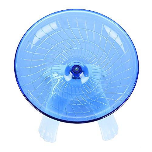 AWHAO ハムスター おもちゃ ハムスターの回し車 滑り止め 静音 18cm ブルー