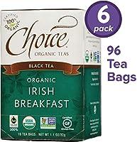 Choice Organic Teas 紅茶、アイルランドの朝食、16カウント、6パック