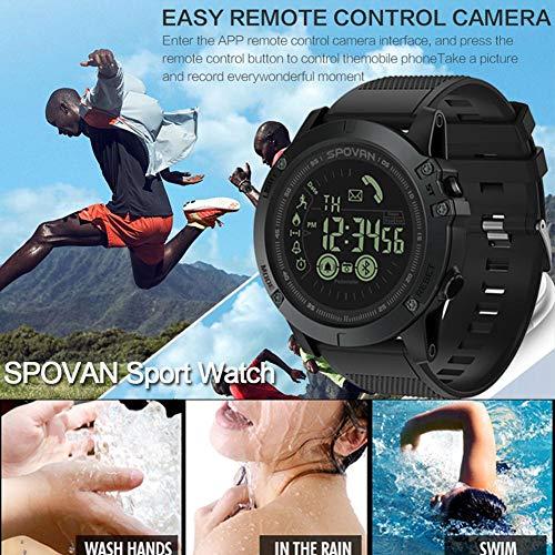 デジタルスマートランニングウォッチ 心拍数計 50m防水 メンズスポーツウォッチ 多機能アウトドア歩数計 スポーツ腕時計 ファッション時計 長年のバッテリー寿命