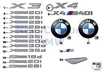 純正Bmw f26SacトランクLid x4ドライブエンブレムバッジロゴサインOEM 51147339428