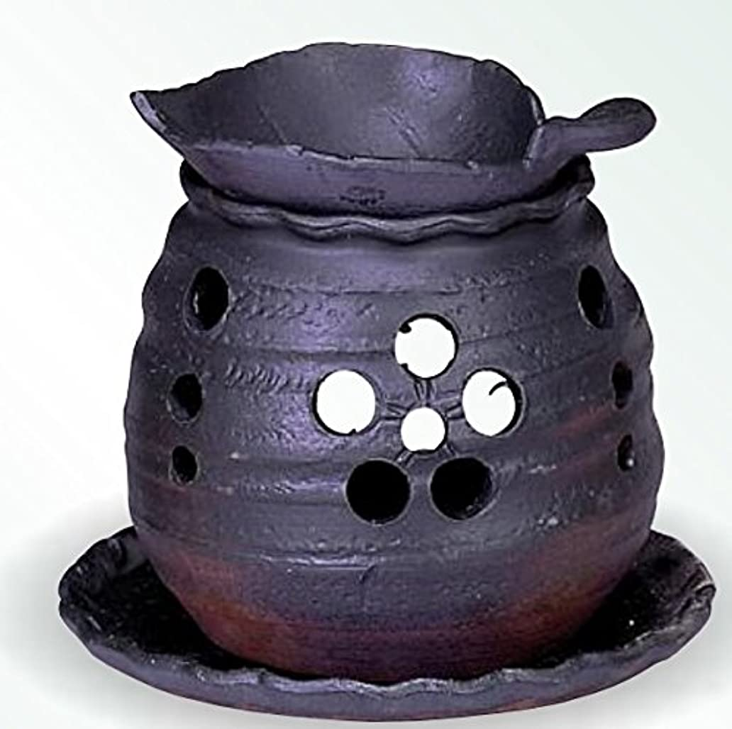 竜巻おばあさんより常滑焼 茶香炉(アロマポット)木ノ葉皿 径10×高さ10.5cm