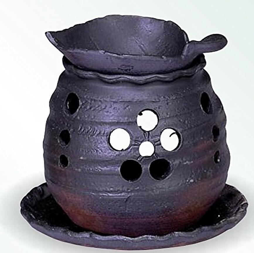 残るランドリー変更可能常滑焼 茶香炉(アロマポット)木ノ葉皿 径10×高さ10.5cm