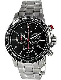 [エドックス]EDOX メンズ クロノラリーS クロノグラフ ブラック文字盤 シルバー ステンレス 10229-3M-NIN 腕時計 [並行輸入品]