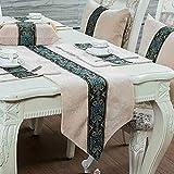 QY テーブルランナー テーブルフラグ 贅沢 コーデュロイ 表 テーブルランナー テーブルクロス テーブルランナー 罰金 刺繍 渦巻き 設計 QY テーブルランナー (Color : B Beige, Size : 33*180cm)