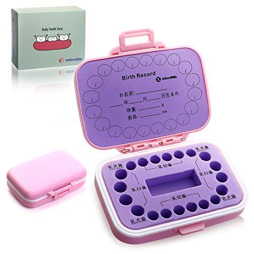 adorable 乳歯ケース 乳歯入れ 子供の歯 保存 保管 ケース 人気 名前 日本語 男の子 女の子 ベビートゥース 出産祝い (pink*purple)