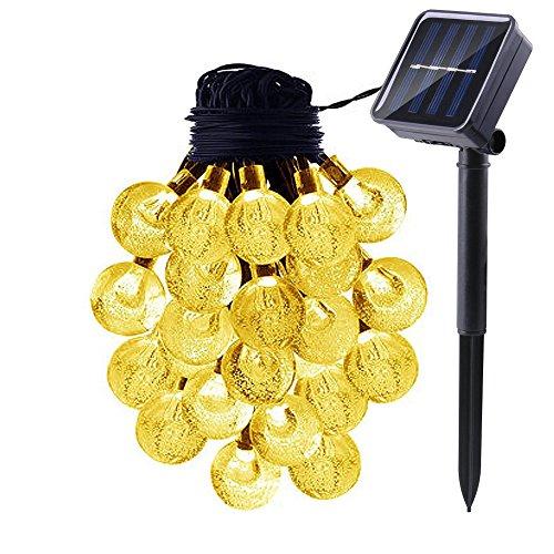 RoomClip商品情報 - ProGreen イルミネーションライト LED40球 全長7.5m ソーラー充電  LEDクリスマス装飾 気泡 (電球色)