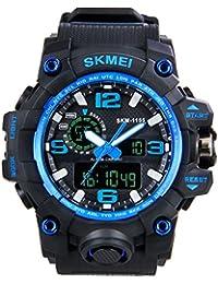 Hiwatch 腕時計 デジタル表示 多機能 LED アナログ表示 アナデジ式 日付曜日表示 夜光 スポーツウォッチ【Web日本語取扱説明書あり】