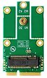 M2MP1-E v1.0 : KeyEコネクタ搭載M.2 (NGFF) - PCIeタイプmPCIeアダプタ v1.1 PCIe接続のM.2モジュールをMiniCard / mPCIeスロットで使用可能 Type 2230およびType 2242のサイズ、KeyEもしくはKeyA+EのキーのM.2モジュールに対応。intel 7260などのPCIe接続WiFiモジュールに USB接続にも対応し、Bluetooth機能も使用できます。