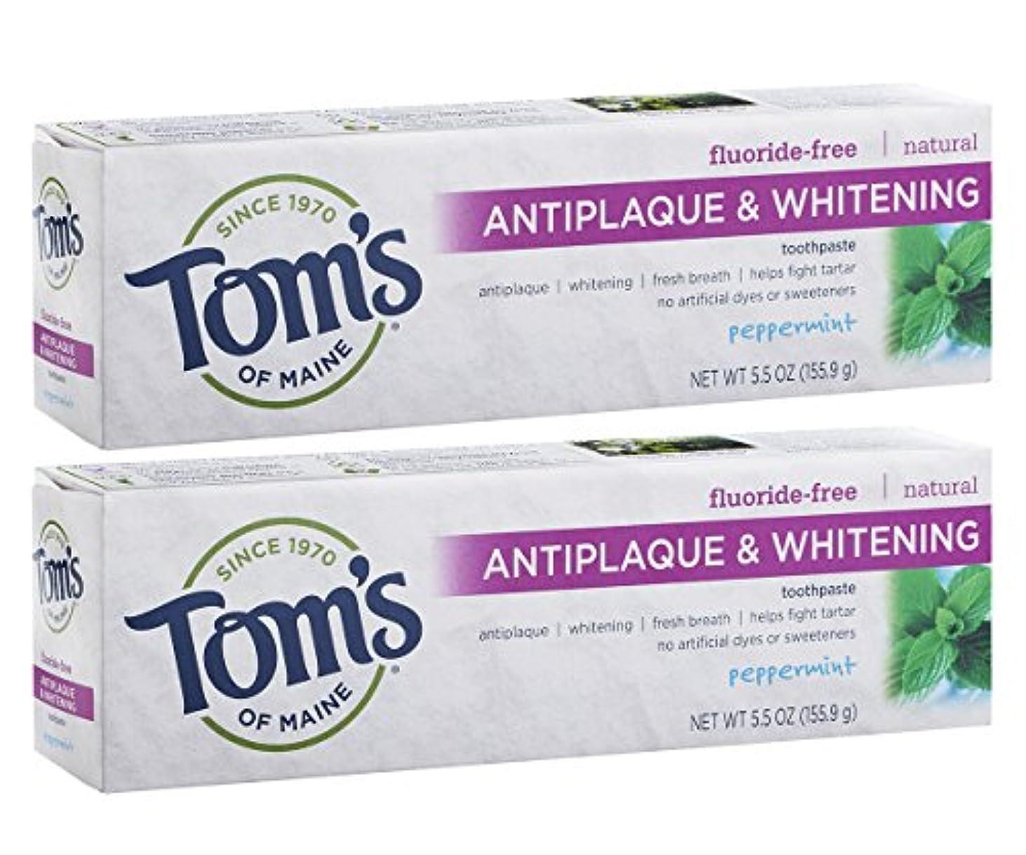 エージェント主張確かにTom's of Maine Antiplaque And Whitening Fluoride-Free Toothpaste, Peppermint, 5.5-Ounce by Tom's of Maine