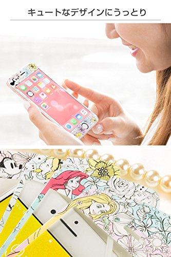 ディズニー iPhone8/7/6s/6 ガラスフィルム キャラクター 液晶保護フィルム 9H 0.33mm / ミニーマウス