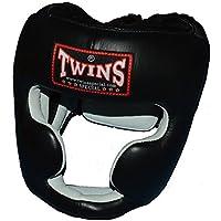 TWINS本革製ヘッドガード 黒 PTTW3190 キッズサイズあり/トップファイター トレーニング映像付