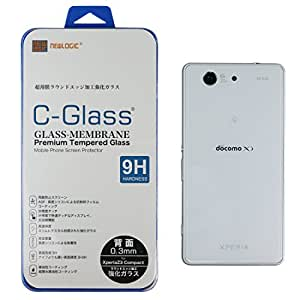 NEWLOGIC 【Sony Xperia Z3 Compact 背面】 C-Glass 0.3mm 保護ガラス (硬度 9H) 液晶保護 フィルム/SO-02G (背面)