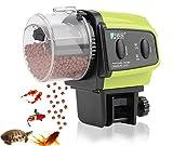 自動給餌器 餌やり器 魚 自動餌やり機 熱帯魚 金魚 えさ 水槽 セット フードタイマー 配給量調節可能 (日本語取説付き)