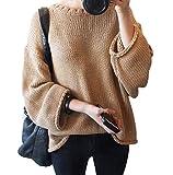(ゴラッソ)GOLAZO ゆったり ざっくり ニット ルーズ セーター (キャメル, M)