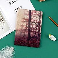 新しい ipad pro 11 2018 ケース スリムフィット シンプル 高級品質 手帳型 柔らかな内側 スタンド機能 保護ケース オートスリープ 傷つけファンタジーマルサラ色霧の森ジャングル夢のような荒野森の日光