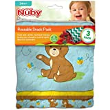 [ヌビー]Nuby Reusable Snack Bag, Bear NSP109 [並行輸入品]