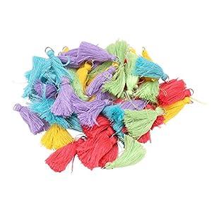 紗や工房 フリンジタッセル ミニタッセル サニーディカラー(約3.5cm)5色x各10個 ap001821