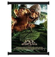 映画「ジャック・ザ・ジャイアント・スレイヤー」ファブリックウォールスクロールポスター (32インチ x 47インチ)
