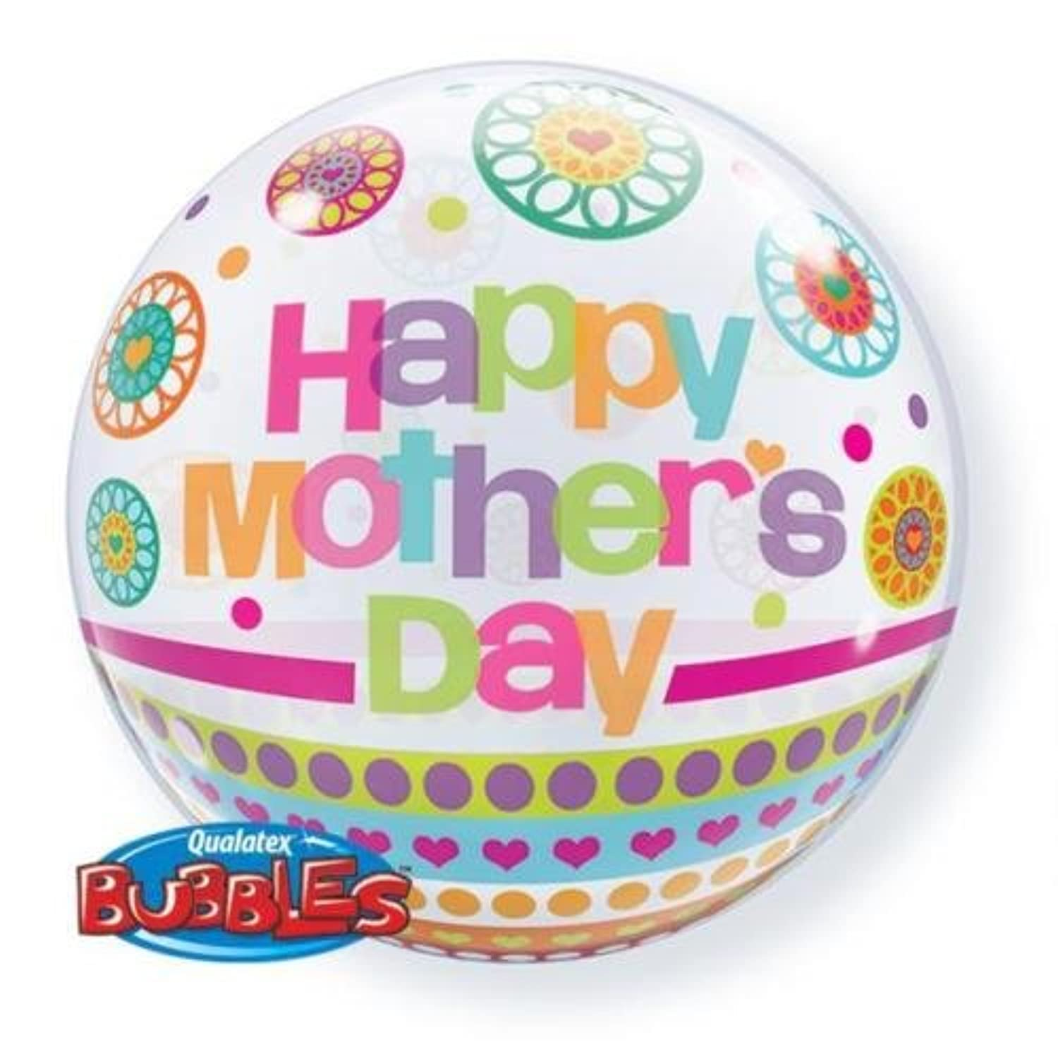 Happy Mothers Day Dots &パターン22インチQualatex Bubble Balloon