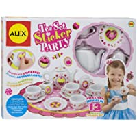 Alex Toys Craft 13 Piece Tea Setパーティーwith over 100ステッカー