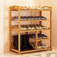 靴ラックバンブーマルチレイヤーアセンブリ現代のシンプルな家庭用シューボックスベッドルームストレージラックストレージシューズ (色 : 5 layer, サイズ さいず : 80cm)