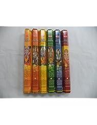 裾Indian GodシリーズIncense Sticksさまざまなコンボ# 2 6 x 20 = 120合計