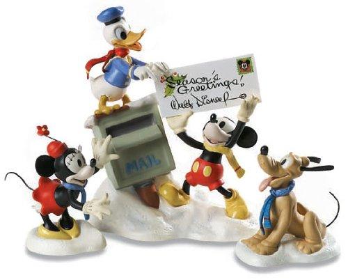 """ディズニー WDCC ミッキーマウスと仲間たち """"Mickey, Donald, Minnie & Pluto Merry Messengers""""1229844"""