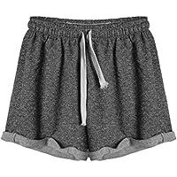 YanLee Women's Stretch Activewear Lounge Yoga Gym Casual Sport Shorts Small Dark Grey