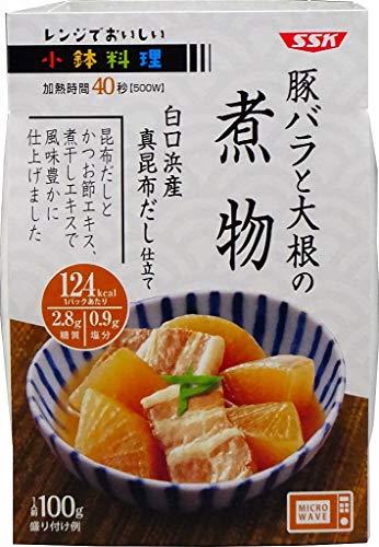 SSK レンジでおいしい! 小鉢料理 豚バラと大根の煮物 100g×12個入