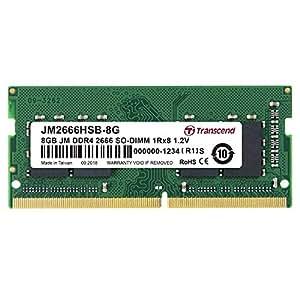 Transcend ノートPC用メモリ PC4-21300 (DDR4-2666) 8GB 260pin SO-DIMM 1.2V 1Rx8 (1024Mx8) CL19 JM2666HSB-8G
