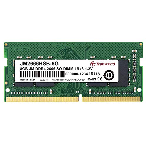 ノートPC用メモリ PC4-21300 DDR4-2666 8GB 260pin SO-DIMM 1.2V 1Rx8 1024Mx8 CL19 JM2666HSB-8G