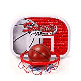 BYM 子供用 ミニバスケットゴール 家庭用 2つ ボール付 高さ調整可能 室内用 バスケット ゴール ミニバス サイズ対応 アウトドア キッズ体育訓練 便利