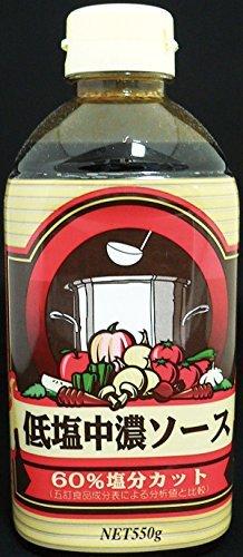 フードケア 低塩中濃ソース ボトル 550ml