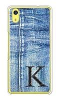 ガールズネオ au Qua phone QZ KYV44/UQmobile DIGNO A ケース (デニム イニシャル 1 ブラック K) KYOCERA KYV44-PC-DNM-BK1K