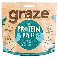 [Graze ] ココナッツカシューバタータンパク質ボール部31Gを放牧 - Graze Coconut Cashew Butter Protein Balls 31g [並行輸入品]